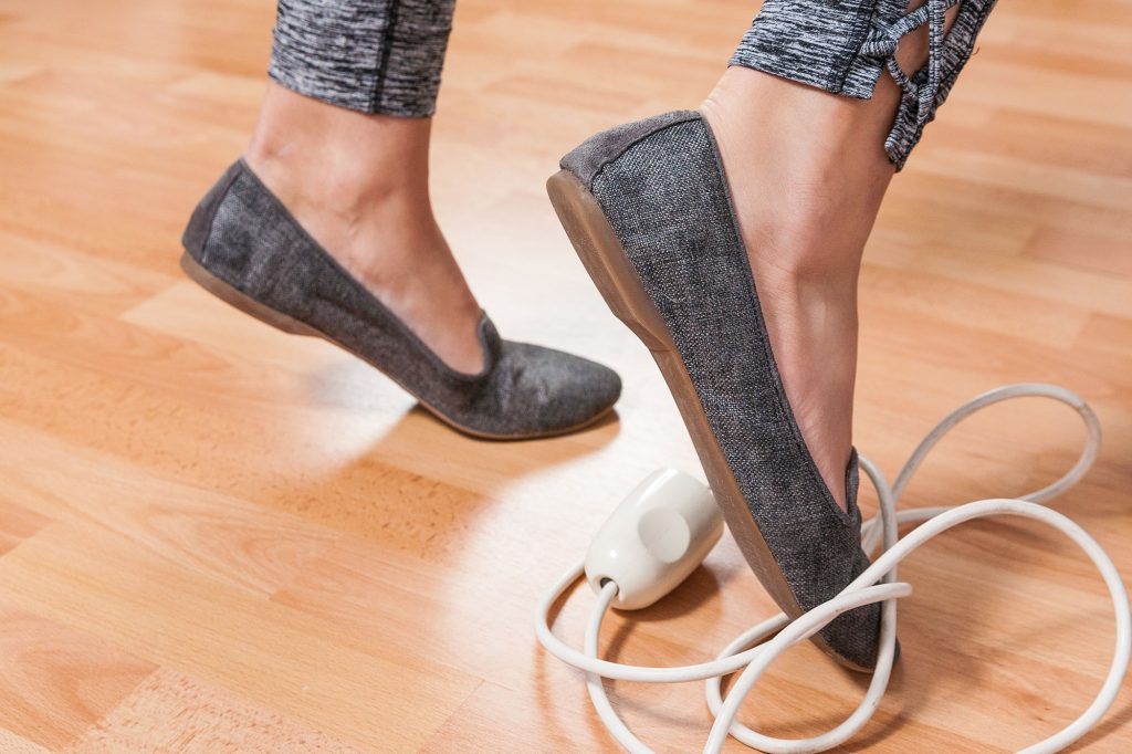 Tripping over cables in the workplace - Slips, trips and falls at work