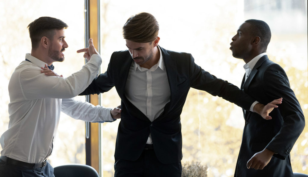 physical violence and assault between colleagues in the workplace